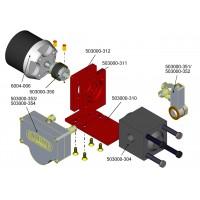 Soporte MG-HR7 + acople motor