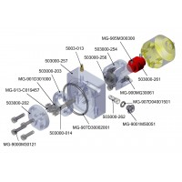 Motorkupplung für bürstenlose Pumpe mit Reservoir
