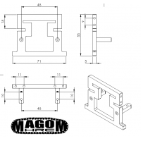 Sistema soporte de cabina para Bruder SCANIA - 1:16