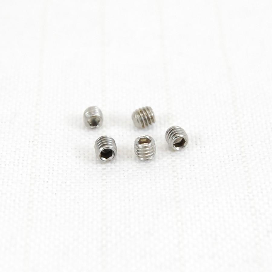 Packung (5) M3 x 3 Gewindestifte mit innensechskant und kegelkuppe