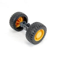 Eje y ruedas traseras - Bruder L574