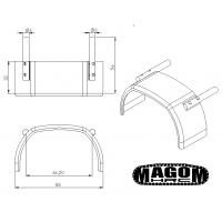 Pareja de guardabarros delanteros de metal - 8x8 - 1:16