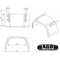 Pareja de guardabarros intermedios de metal - 8x8 - 1:16