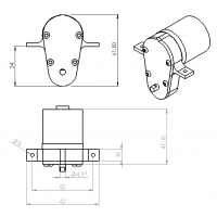 Washer for 15 mm cylinder front cap