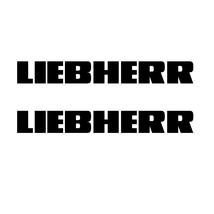Logo Liebherr (2) 50 mm Negro