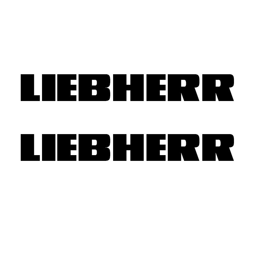 Liebherr logo (2) 85 mm Schwarz
