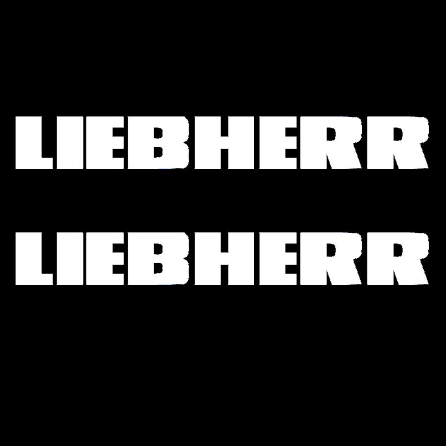 Logo Liebherr (2) 50 mm Blanco