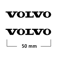 Logo Volvo (2) 50 mm Negro