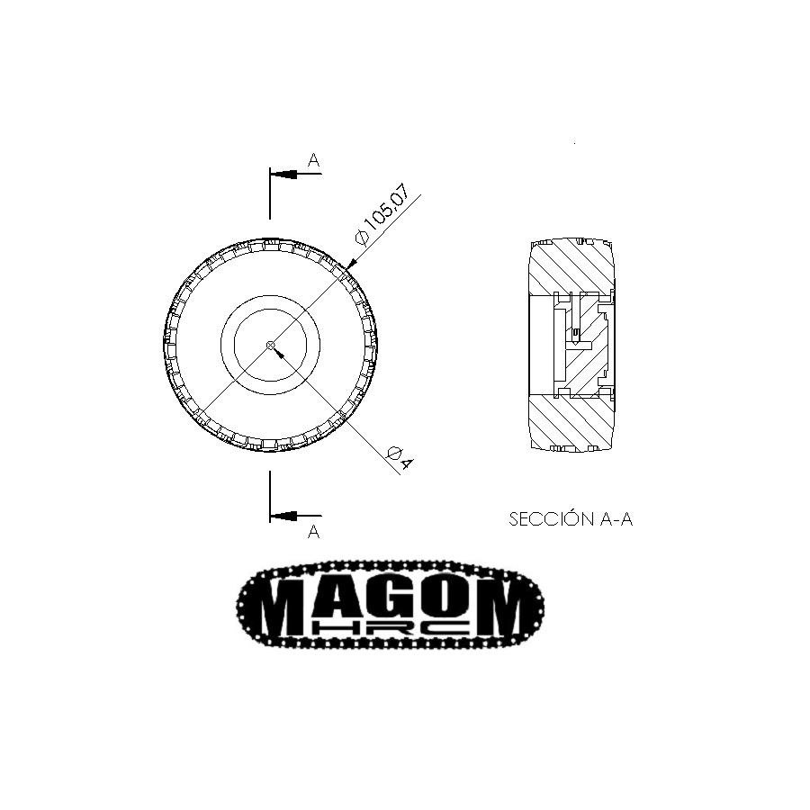 Metal sprocket wheel DIY (for servo)