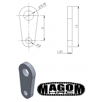 Realistische Maschinenpin - lang Stecknadelkopf