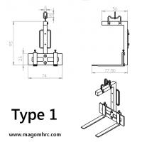 Kran-Palettengabel Typ 1