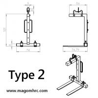 Porta palé para pluma (Tipo 2)
