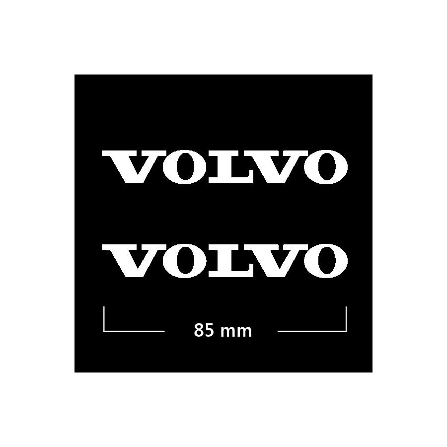 Logo Volvo (2) 85 mm Blanco