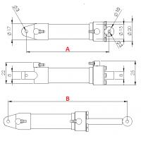 Hydraulikzylinder durchmesser 15 mm M3