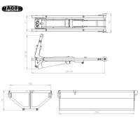Abrollkipper kit für 1/14 mit brushed Hydraulikpumpe