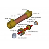 Eje - botella hidráulica 12 mm