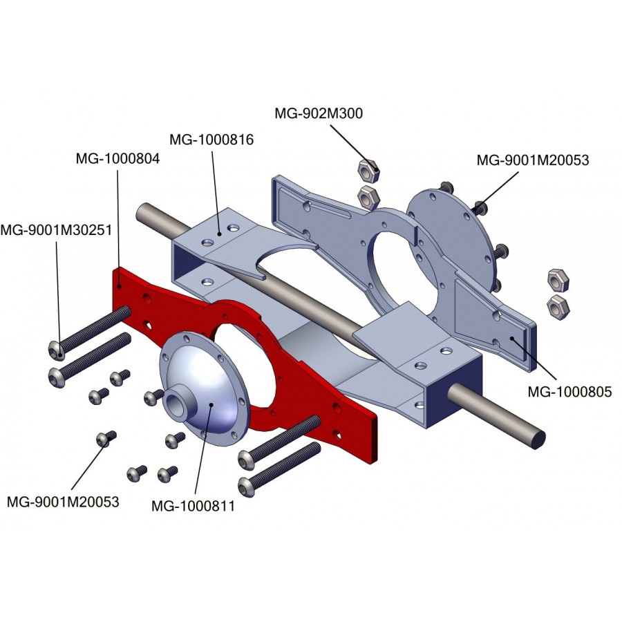 Chapa delantera bloque diferencial - servo (1)