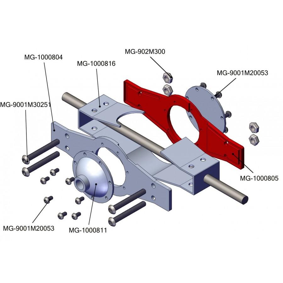 Chapa trasera bloque diferencial - servo (1)