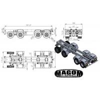 Chasis + grupos + ruedas para camión 8x8 - servo