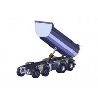 Chasis + grupos + ruedas + hidraulica para camión 8x8 - servo