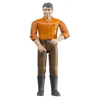 BRUDER Puppe mit braunen Hosen