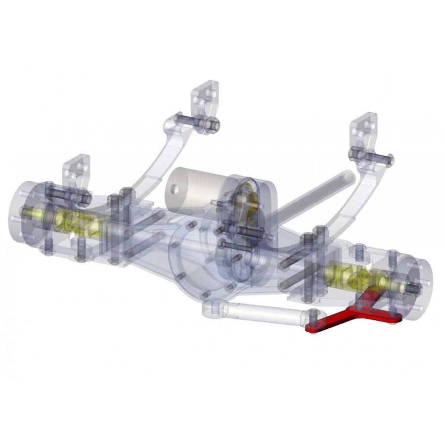 Soporte barra de dirección (3 brazos) eje delantero (1)