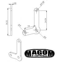 Soporte barra de dirección (2 brazos) eje delantero (1)