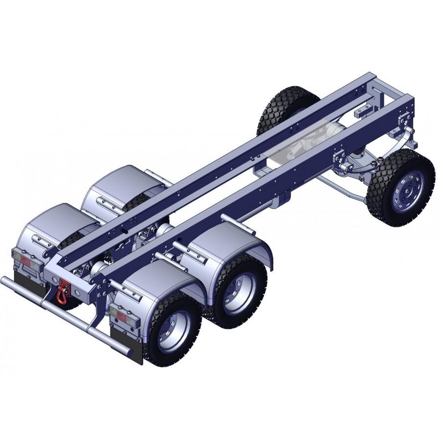 Chasis + grupos + ruedas para camión 6x6 - servo