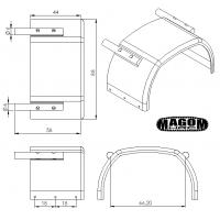 Der hintere Kotflügel mit Lampenträger (Paar) - 4x4 - 1:16