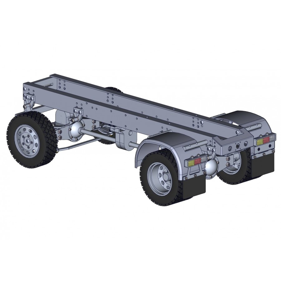 Chasis + grupos + ruedas para camión 4x4 - servo