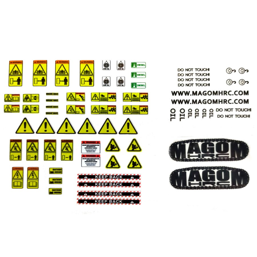 Machinery sticker sheet 1:14
