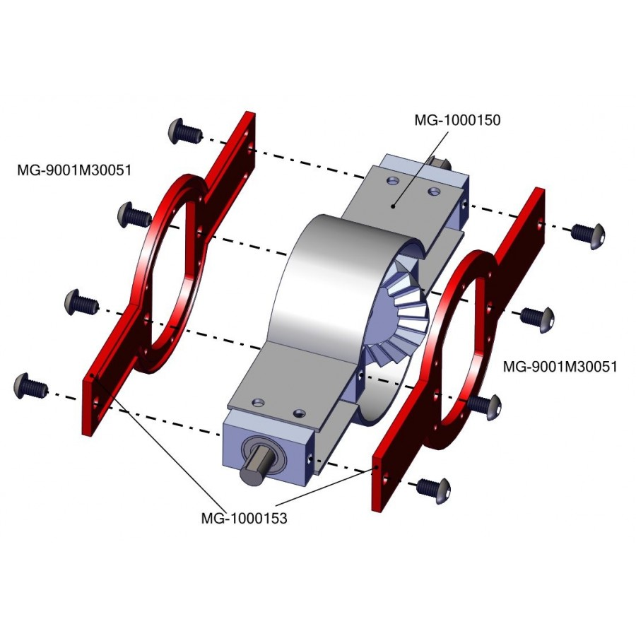 Chapa delantera/trasera bloque diferencial - SD (2)