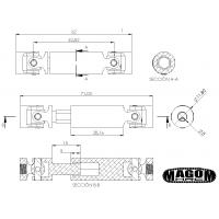 Cardan de entrada para grupo SD trasero - camión 8x8 (1)