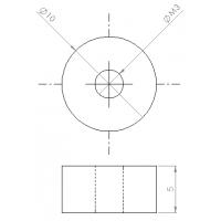 Casquillo 10-5-M3 Latón
