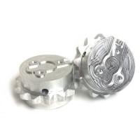 Rueda dentada 973D-aluminio (pareja)