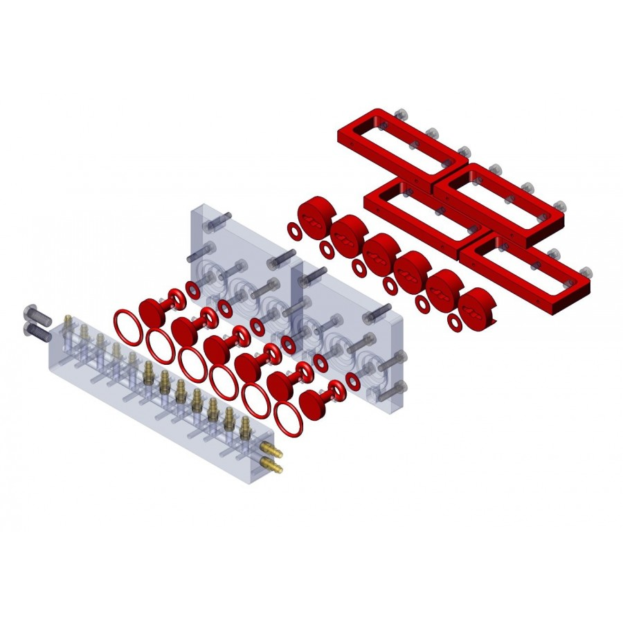 Kit actualización V1 a V2 válvula repartidora 6 vías M3