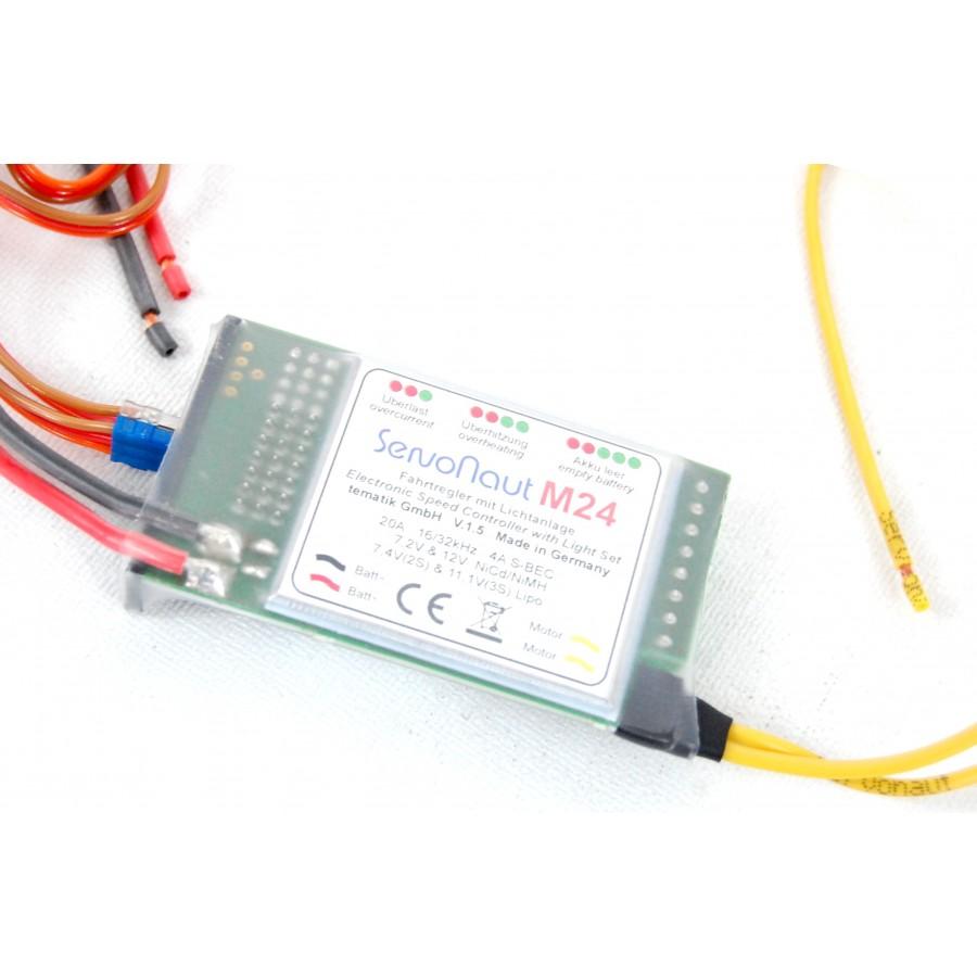 SERVONAUT M24 Fahrtregler + Lichtanlage