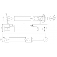 Botella hidráulica 10 mm M3 - hexágono