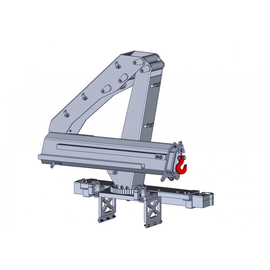 Estructura metálica de la pluma con 2 extensiones para camión 1/16 - 1/14