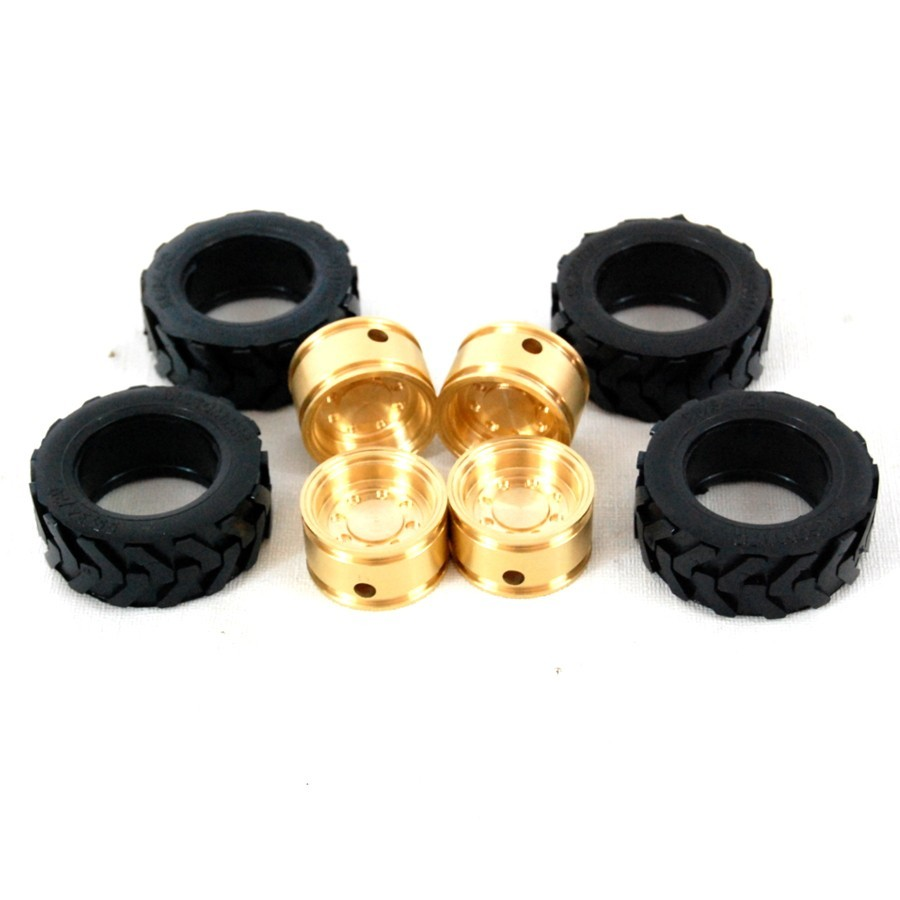 Llantas de latón + Neumáticos para CAT 236B (4)