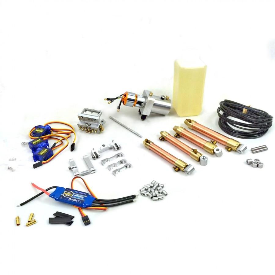 Kit hidráulico+electrónico - HUINA 580 (brazo original)