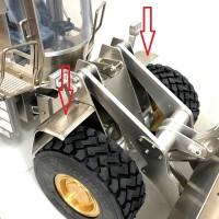 Pareja de guardabarros delanteros de metal - Cargadora de ruedas