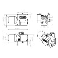 Bomba hidráulica MG-HR7 900ml M3 + Motor brushless