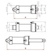 Vérin hydraulique 22mm M3