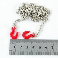 Metallhaken mit Kette (Rot)