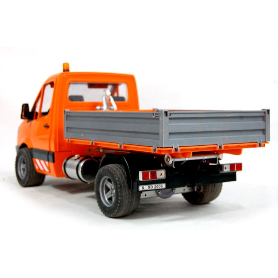 Complete chassis for 6x6 trucks - servo - 1:16
