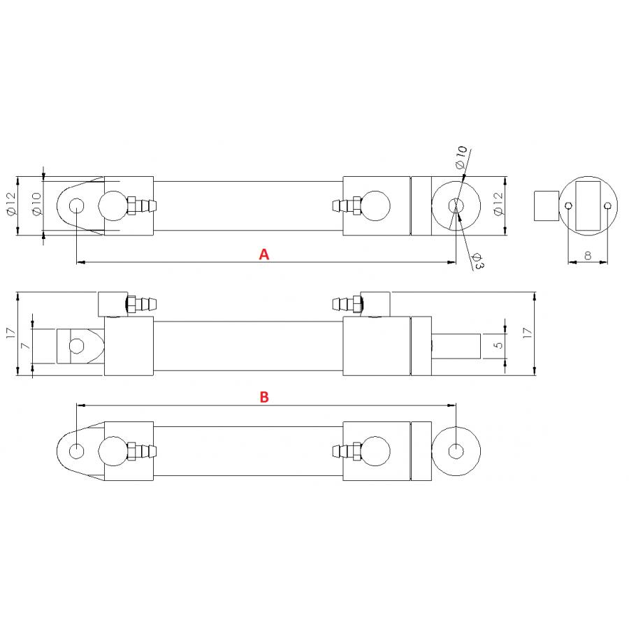 Boîte de vitesses (droite) -complet- Châssis 973D V2