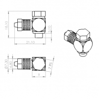 Racor 90º M5-tubería 4mm