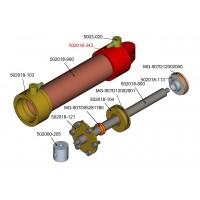 Rückseite für 18mm hydraulikzylinder M3 - Frontalposition - 3mm Bohrer