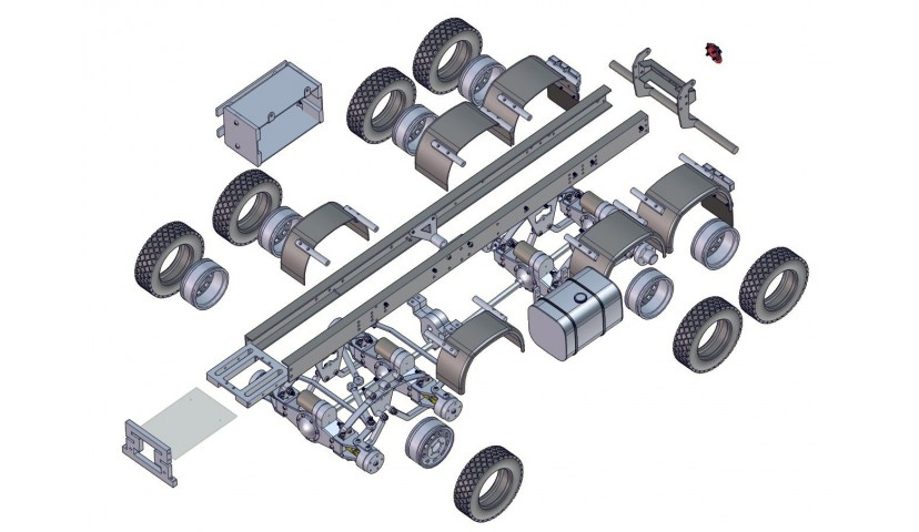 8x8 LKW - Servo angetrieben